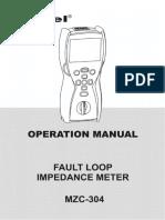 Sonel MZC-304 User's Manual