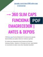 → 360 SLIM CAPS Emagrecedor Natural? EMAGRECE? | É Fraude ou Balela??