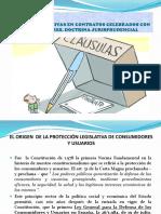 CLÁUSULAS ABUSIVAS EN CONTRATOS CELEBRADOS CON CONSUMIDORES
