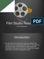 Film studio research