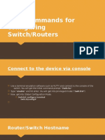 Basic Commands for Configuring Switch.routers
