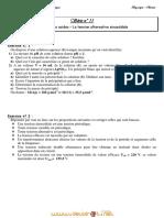 Série d'exercices N°3 - Sciences physiques Tension alternative, équilibre d'un solide soumis à trois forces - 2ème Informatique (2010-2011) Mr Ben Abdeljelil Sami