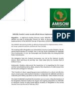 AMISOM, Somalia's Senior Security Officials Discuss Implementation of CONOPS