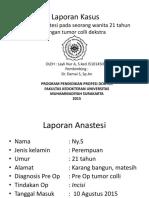 255459191 Clinical Report Session Tumor Colli Imam Feby Anestesi