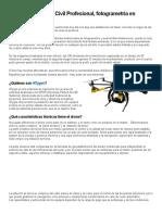 Drones Para El Uso Civil Profesional, Fotogrametría en Minutos. – Geofumadas