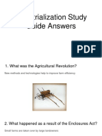 industrialization study guide answers