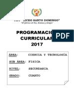 Programacion Anual Fisica Pre 2017