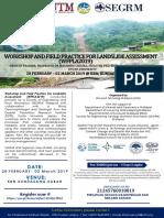 WFPLA2019 Landslide Assesmnt(WFPLA2019) Flyers 18012019