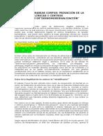 Actividad Complementaria - Habeas Corpus