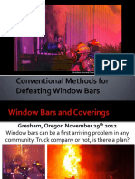 Conventional Methods for Defeating Window Bar Swm Fr