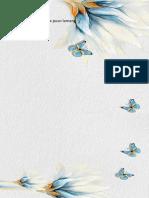 (Minimalist) Blue Fresh Flowers Stationery 09-WPS Office