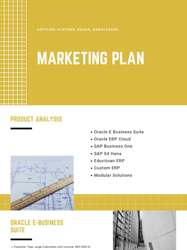 Softlink Marketing Plan Overview | Sap Se | Oracle Corporation