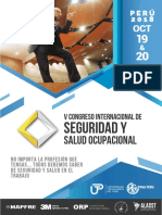 Brochure v Congreso Int. SSO - PERÚ 2018