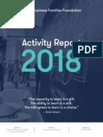 2018 Bff Activity Report