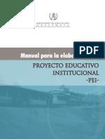 Manual para la Elaboracón del Proyecto Educativo Institucional PEI
