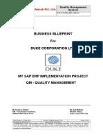 Sap Qm Business Blueprint Sample