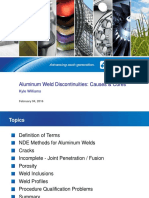 Alumium Weld Discontinuities Causes and-Cures