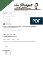 Examen Mensual de Aritmética