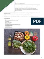Verduras Salteadas Para Dieta Baja en Carbohidratos