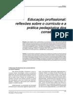 Escolas Especializadas_ESPERIDIÃO_Educação Profissional-reflexões Sobre o Currículo e a Prática Pedagógica Nos Conservatórios