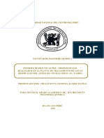 Informe de Prácticas Pre - Profesionales Realizados en La Planta de Tratamiento de Aguas Residuales Del Anexo de Cochas Chico -El Tambo