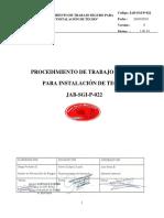 JAB-SGI-P-021 PROCEDIMIENTO PARA INSTALACIÓN DE TECHO