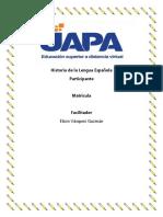 Tarea 1 de Historia de La Lengua Española