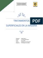 Tratamientos Superficiales en La Madera