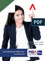 Brochure MBA UChile Full Time Global MBA Web 2019
