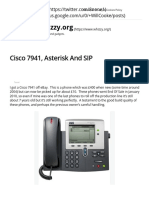 Cisco 7941, Asterisk and SIP – Whizzy.org
