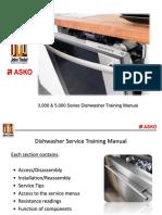 Asko Dishwasher 3000 5000 Series Service Training Manual