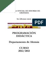 Programacion Aleman 2012-13