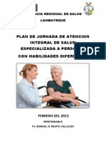 Plan Jornada Integral Discapacidad