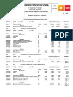 Analisis de Rendimiento de Asfalto Por m2