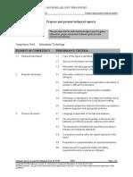 prepare and present technical reports