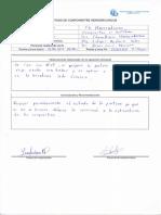 Registro de mantenimiento centrales hidraulicas