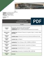 Cronograma Derecho Comercial 1º Cuatrimestre 2018