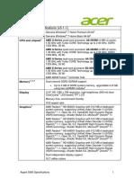 Specifikacia Acer 5560