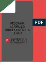 Programa Académico Intro a La Clínica