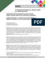 AMPLIAÇÃO DO ENSINO FUNDAMENTAL - Implicações a Avaliação Da Aprendizagem