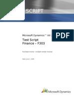F303 Purchase Invoice - Multiple Vendor Invoices