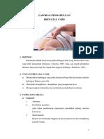 Laporan Pendahuluan Prenatal Care