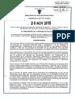 Decreto 2172 Del 28 de Noviembre de 2018