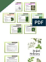 Brochure for Herbal Plants