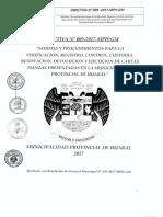 Directiva N- 009 2017 MPH Control de Cartas Fianzas