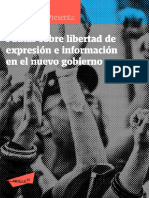 Pautas sobre libertad de expresión e información en el nuevo gobierno