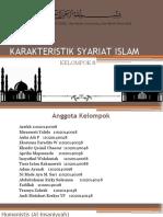 Karakteristik Syariat Islam (Def) Kelompok 8