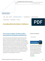 Grounding Electrode Sphere of Influence