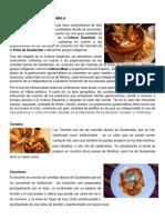Comidas Típicas de Guatemala y de Chiquimula