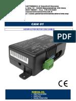 Can 01 Interfaz Por Motor Con Canbus Manual De_ Instalación Empleo Manutención